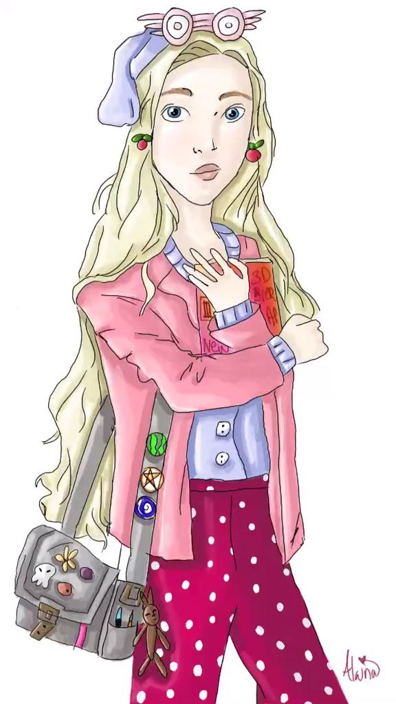 Luna Lovegood - Harry Potter Fan Art - By Alaina Blankenship