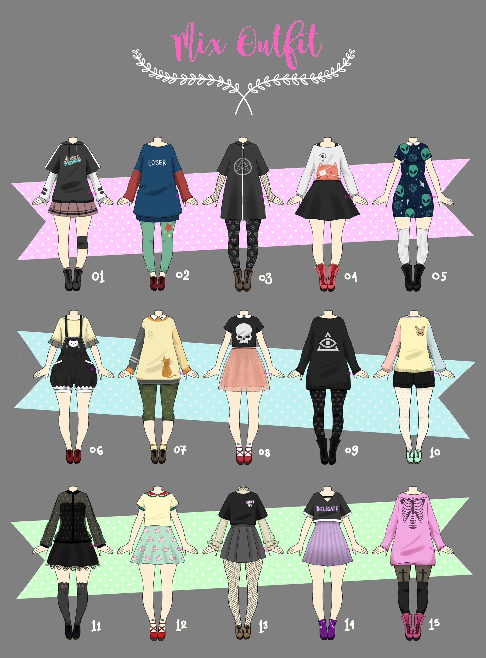 Closed Casual Outfit Adopts 02 By Rosariy Art Clothes Fashion Drawing Sketches Fashion Drawing