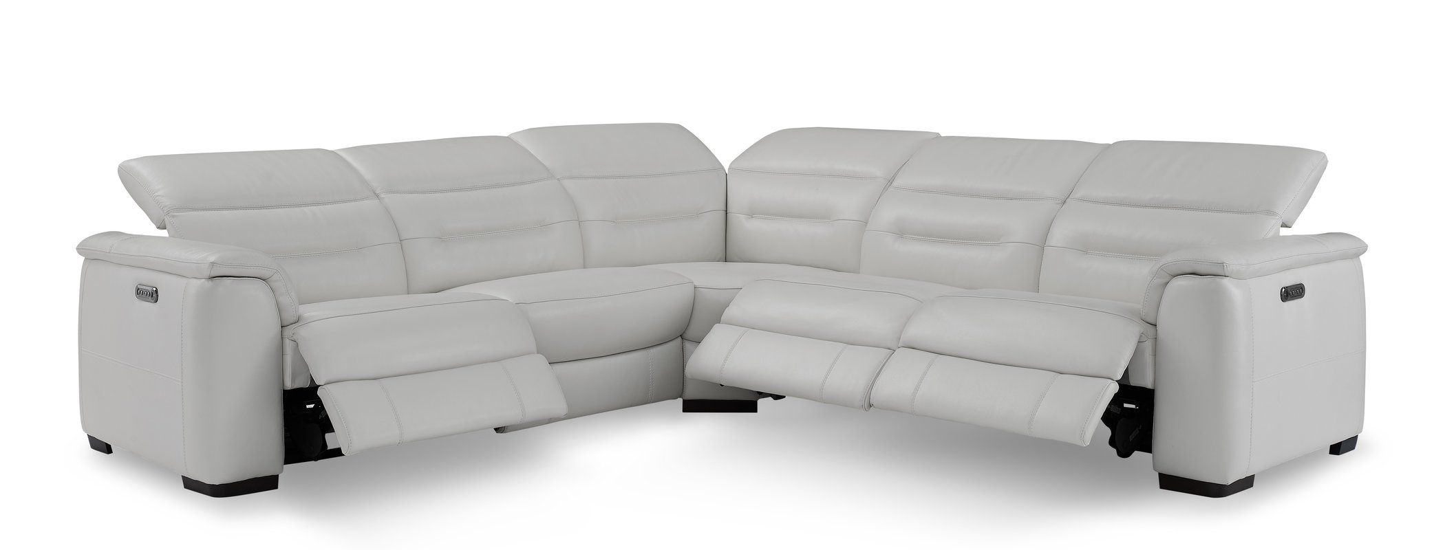Isham Symmetrical Leather Symmetrical Reclining Sectional Reclining Sectional Leather Reclining Sectional Sectional