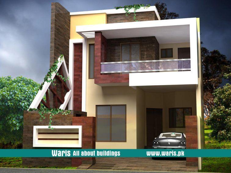Waris House 3d View Elevation 25x50 In Gujranwala Pakistan