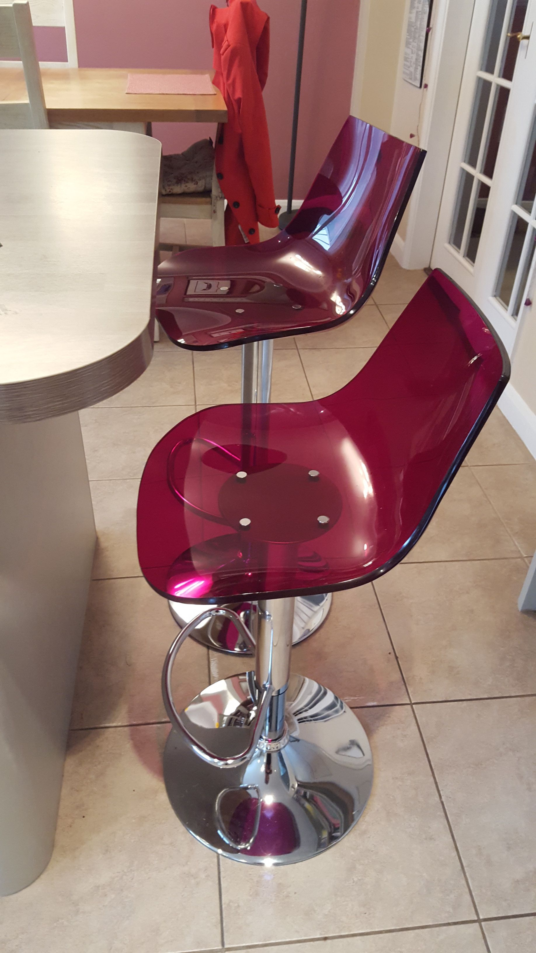 why not use our red amazon gel bar stools to add interest