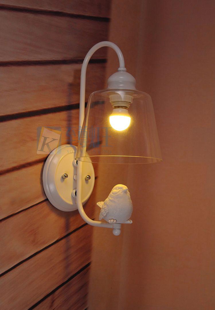 Günstige Kreative Kunst Vogel Wand Lampen Led Lampen Schlafzimmer Aisle  Harz Wandleuchte E27 Led Licht Wandleuchte