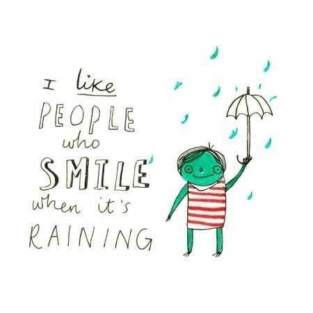 Awesome I Like People Who Smile When Itu0027s Raining   8 X 8 Illustration Print