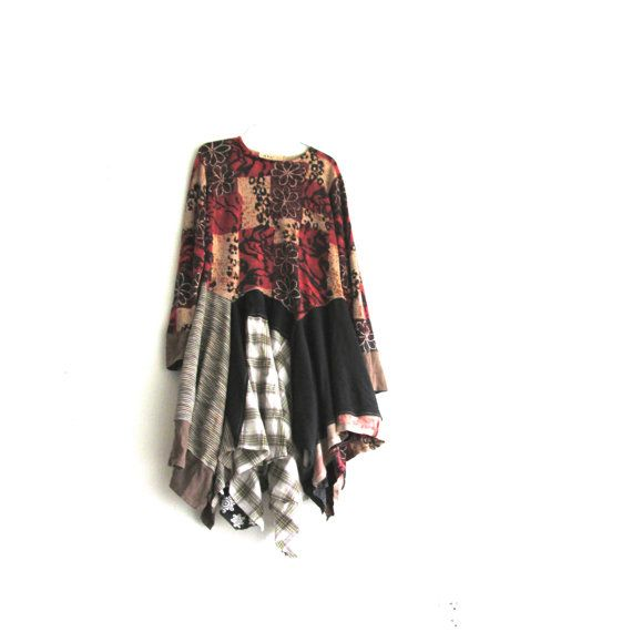 Upcycled Dress / Romantic Fall Dress / Upcycled Clothing