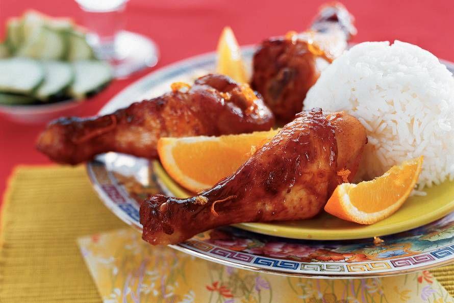 Kijk wat een lekker recept ik heb gevonden op Allerhande! Kipdrumsticks in sinaasappel-honingmarinade