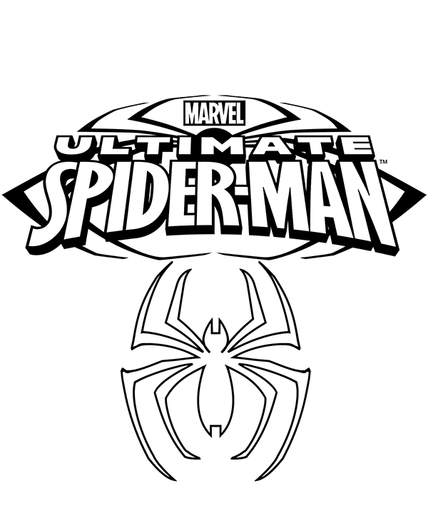 Spider Man Logo For Coloring Superman Coloring Pages Spiderman Coloring Pages