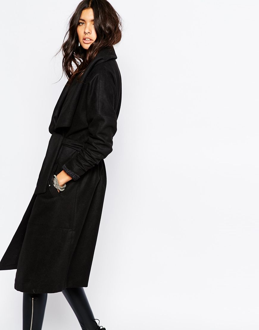 Image 1 of Noisy May Penny Wool-Mix Trench Coat | My style ...