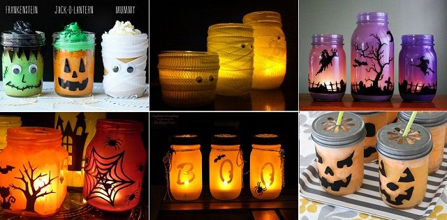 15 DIY Mason Jar Ideas for Halloween knutseldingetjes Pinterest - halloween jar ideas