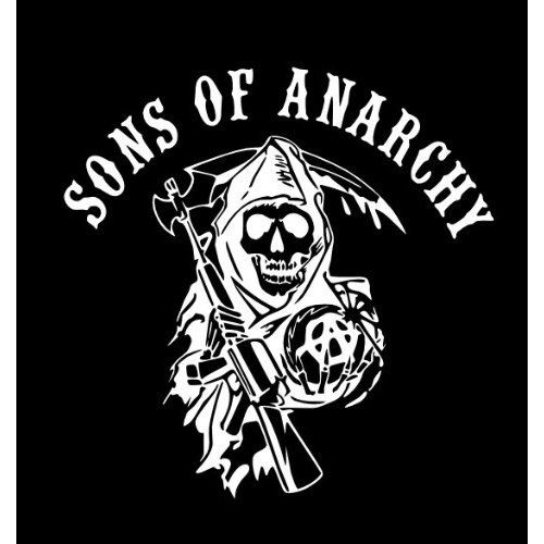 Sons Of Anarchy Vinyl Logo Everything Else Sons Of Anarchy Anarchy Anarchy Shirts