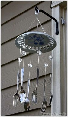 Whip up a whimsical wind chime craft ideas pinterest for How to make a windchime out of silverware