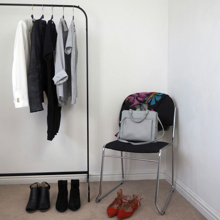 Minimal wardrobe set up  cdd2bde894faa