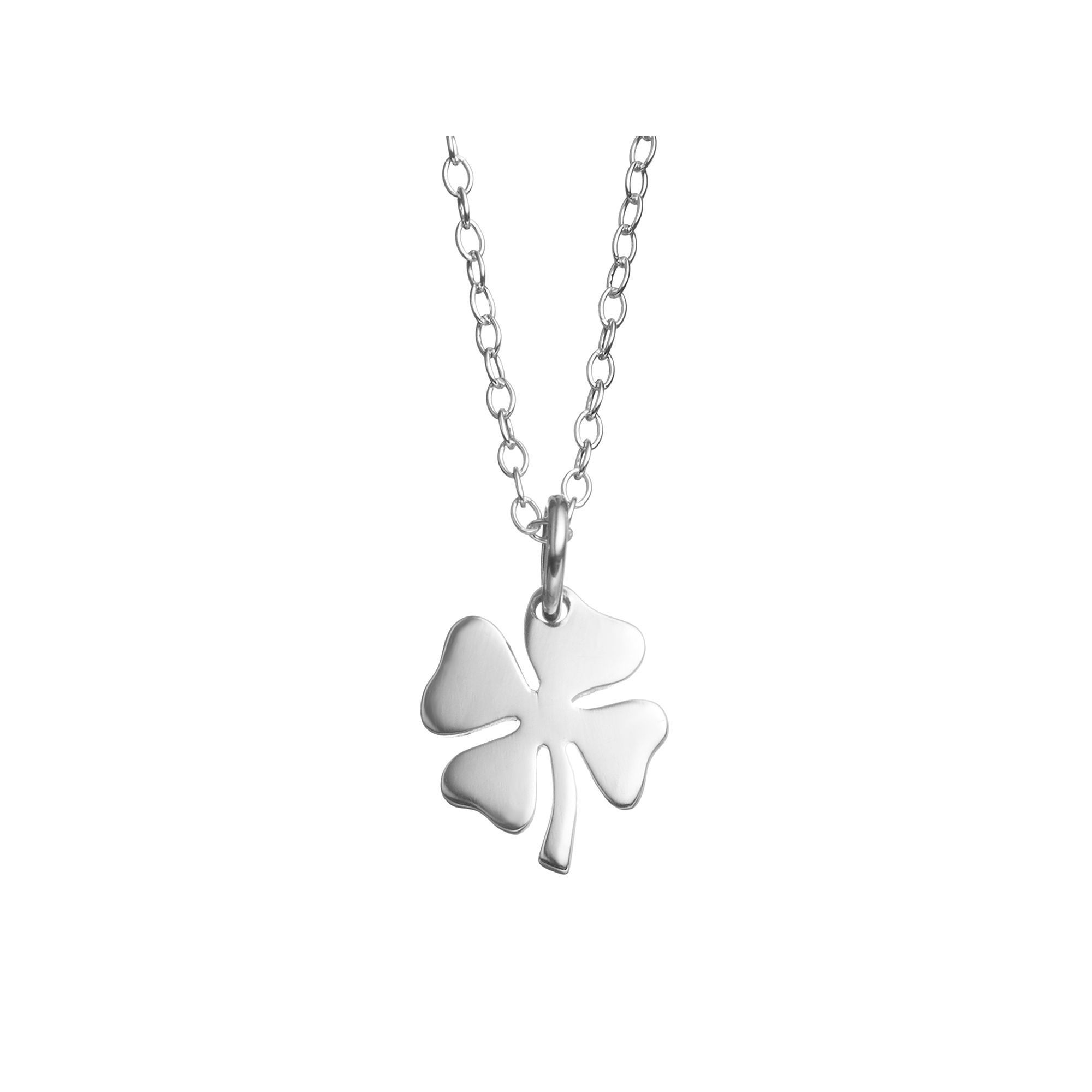 jaz clover necklace sterling products four j cz halo gold leaf pendant plated silver rose