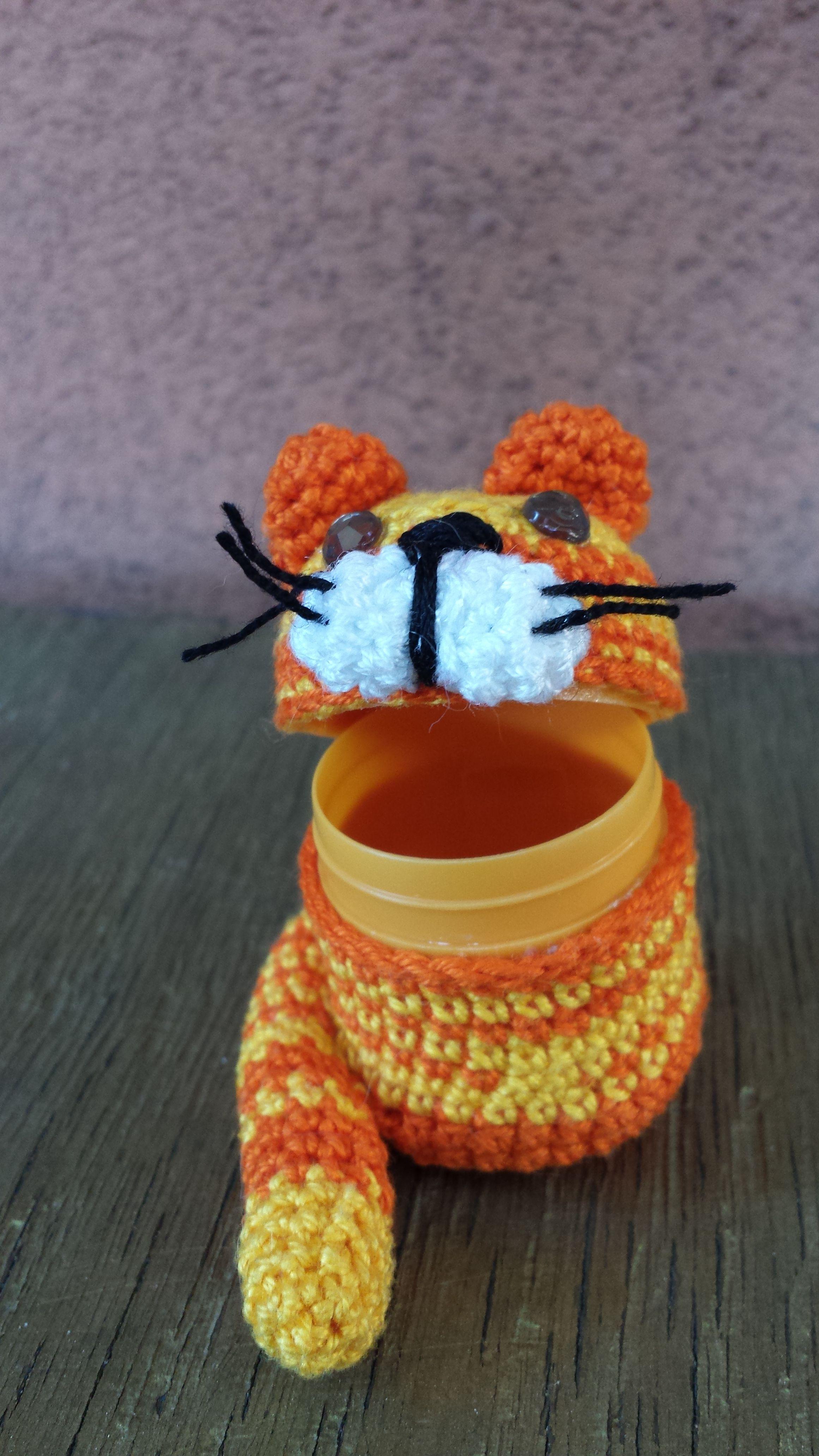 """Gattino copriovetto """"porta-quel-che-vuoi"""" aperto in cotone"""