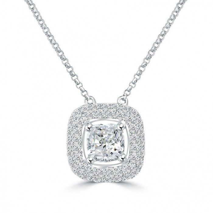 1764ded11841 Fresh Cushion Cut Diamond Necklace Check more at http   www.lascrapper.