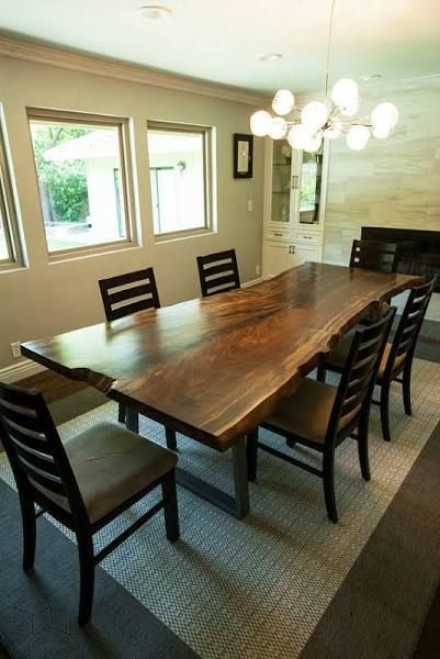 9 Foot Live Edge Dining Table Live Edge Walnut Dining Table