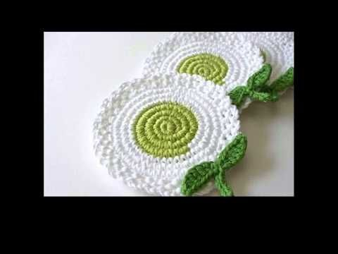 Crochet Coasters Patterns Youtube Placemats Coasters