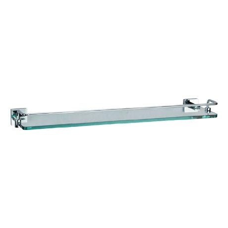 Crosswater - Zeya 500mm Glass Shelf with Rail - ZE030C | Glass shelves