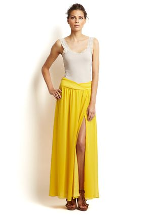 Also in love with this skirt - the yellow is growing on me.  I'm always a year behind trends!