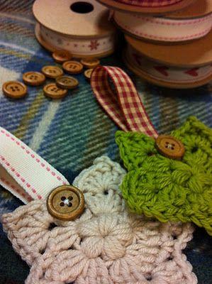Crochet Star ornaments