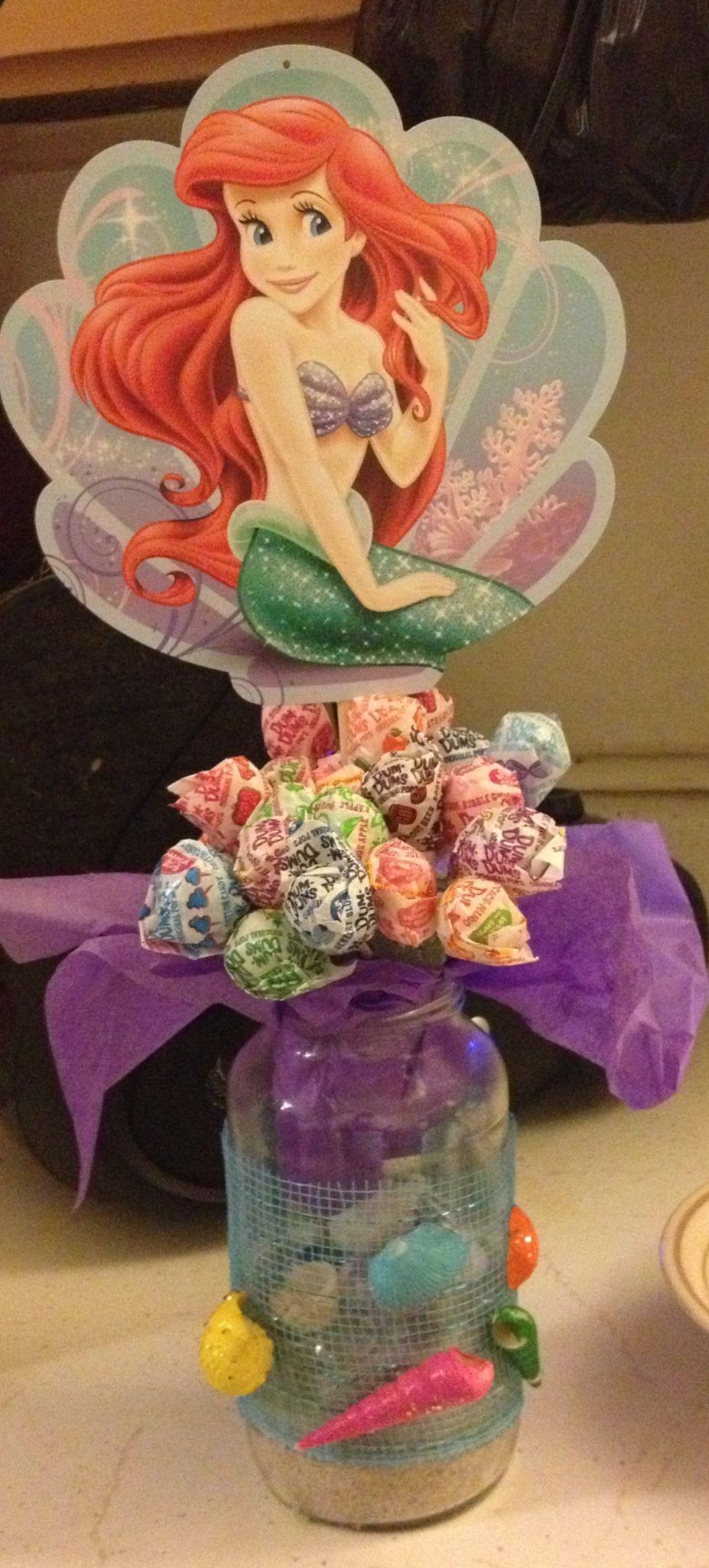 The little mermaid centerpiece from spaghetti sauce jars