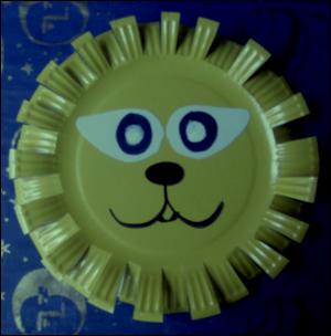 bricolage enfant noel assiette masque de lion d coration noel enfant bricolage papier carton. Black Bedroom Furniture Sets. Home Design Ideas