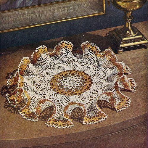 Daisy Frills Ruffled Doily Crochet Pattern | Manualidades en crochet ...