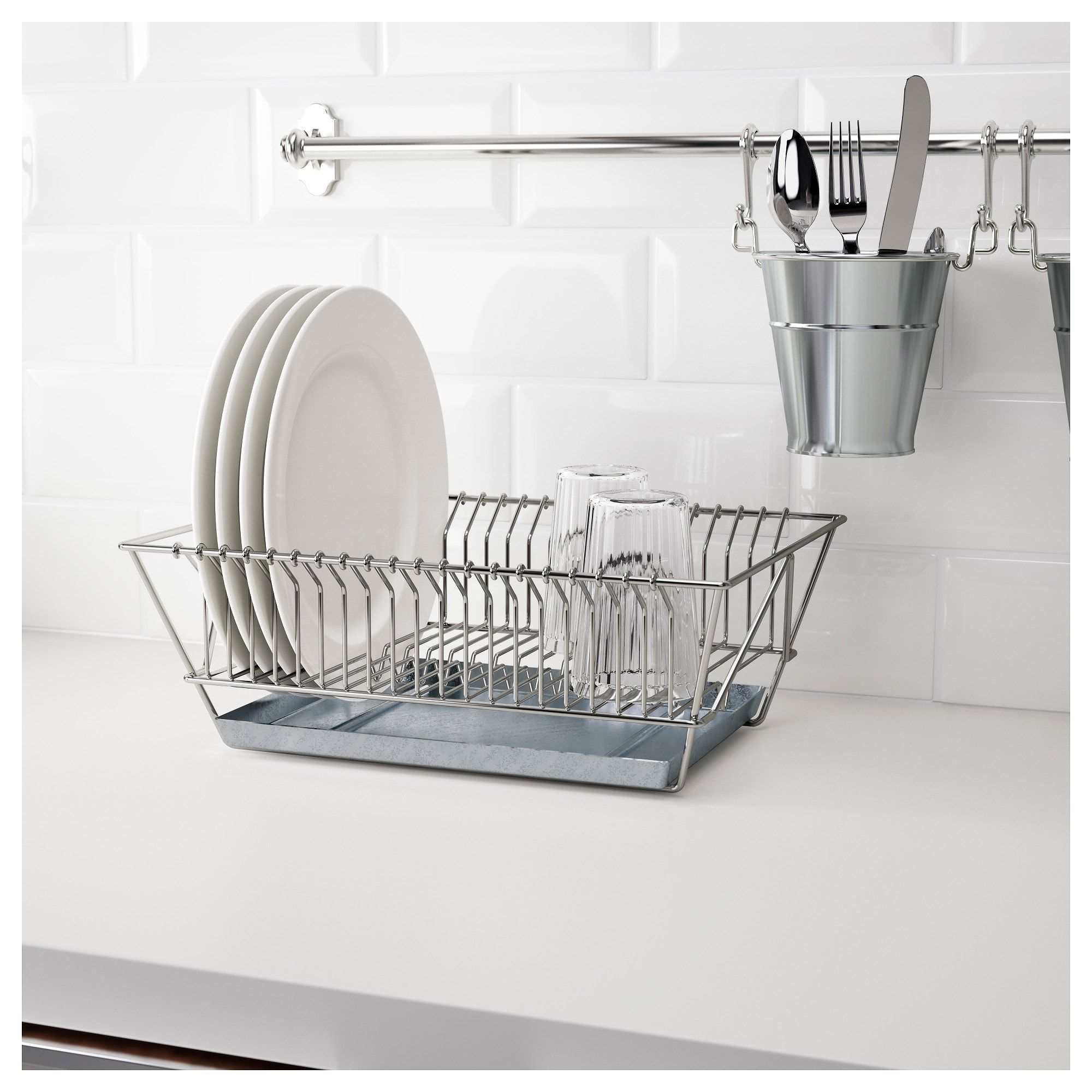Ikea Fintorp Nickel Plated Dish Drainer Products In 2019 Dish