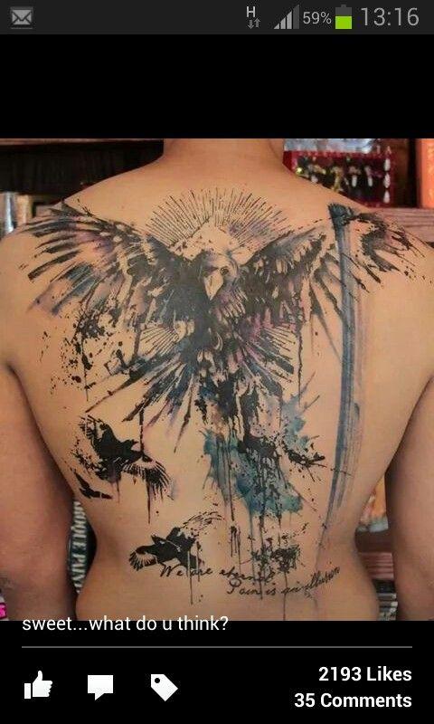 Pin By Becki Shaw On Hobbies Tatouage Tatouage Corbeau Tatouage Dos