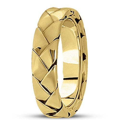 New Mens 14k Yellow Gold Braided Woven Wedding Band Ring 6mm Size 10 Mens Gold Wedding Band Unique Gold Wedding Bands 14k Yellow Gold Wedding Band