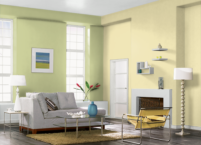 This is the project I created on Behr.com. I used these colors: CORN ...