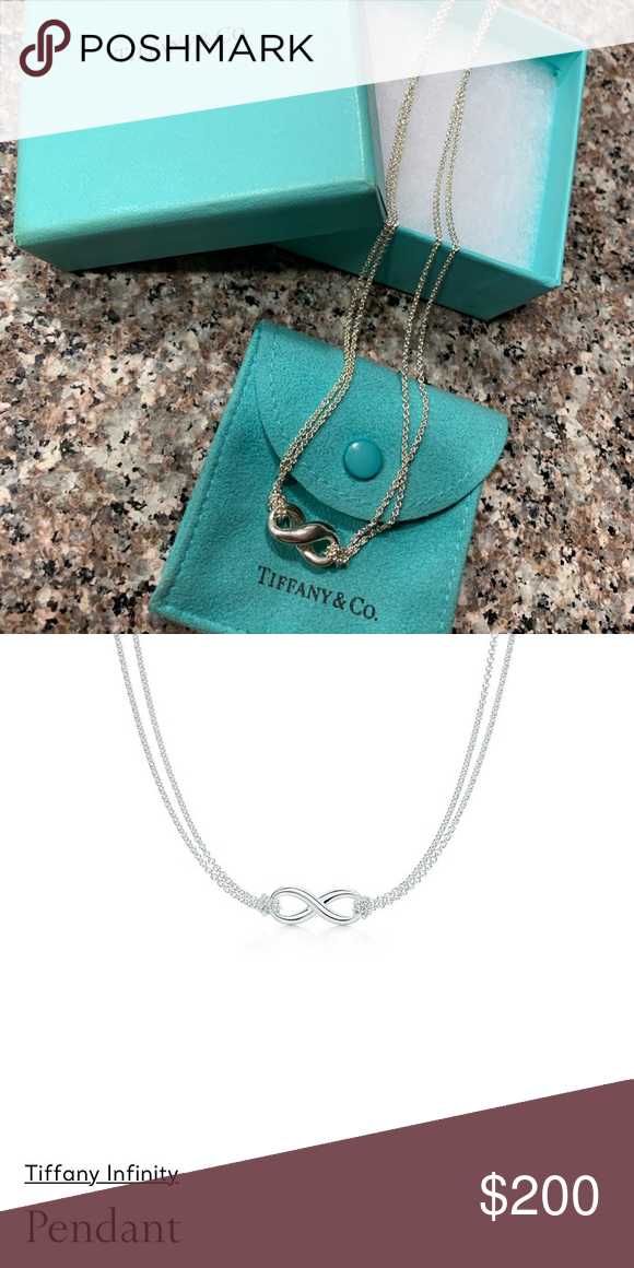 Tiffany's Infinity Necklace.  Like New.