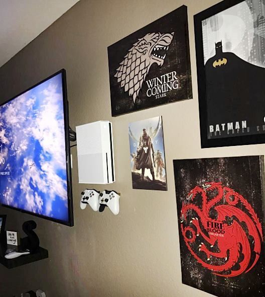 Cool game setup DIY Pinterest Gaming setup, Games and Gaming desk