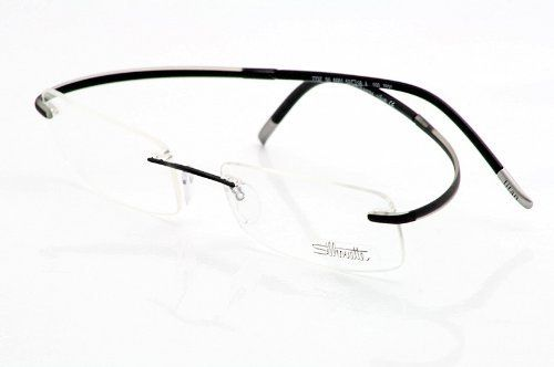 f4b3d4a4a1 Silhouette Eyeglasses Spx Art Chassis 7690 6061 Forever Black Optical Frame  Size  19-150mm Silhouette.  159.95