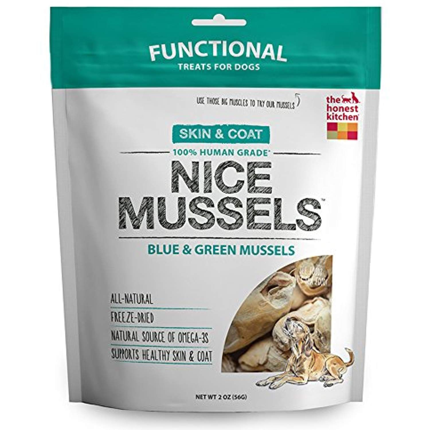 Honest Kitchen The Nice Mussels Dog Treats Natural Human