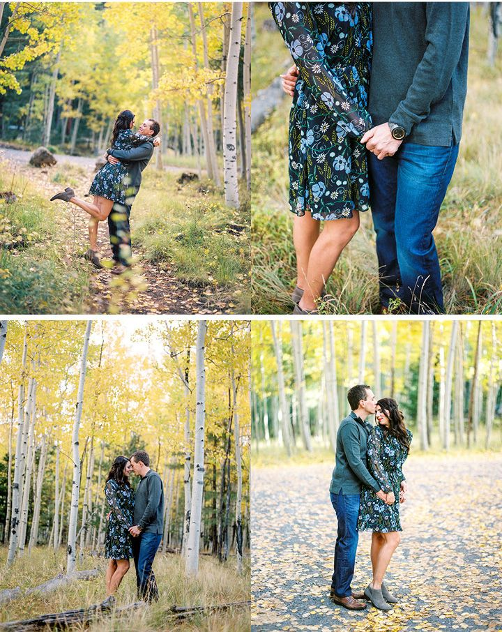 Megan & Matthew Fall Flagstaff Engagement Session by Steph Wahlig Photography | Arizona Weddings Magazine