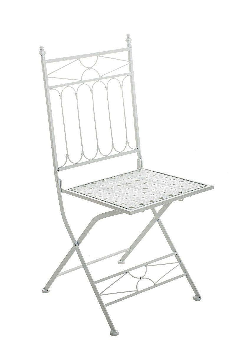 CLP Chaise Pliable Nostalgique ASINA Loraville Metal Fer Forge Pliante 6 Couleurs Au Choix Blanc Amazonfr Cuisine Maison