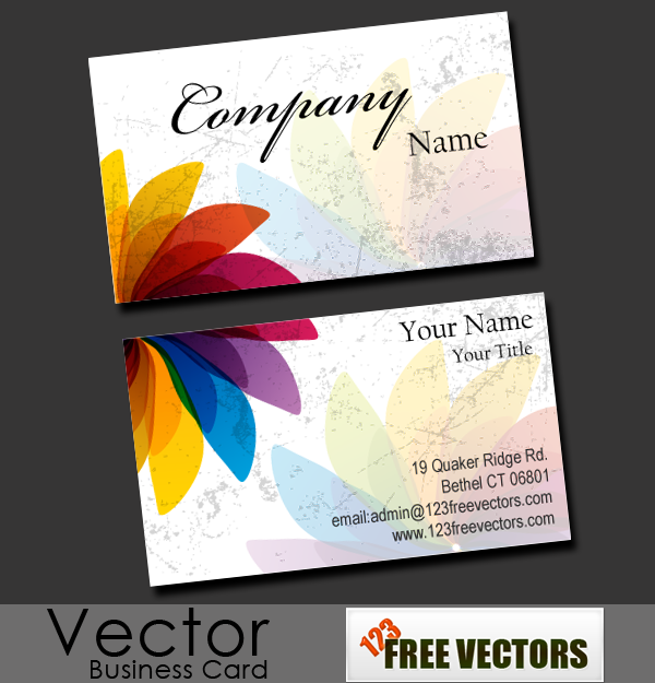 brilliant flower free vector business cards design available for