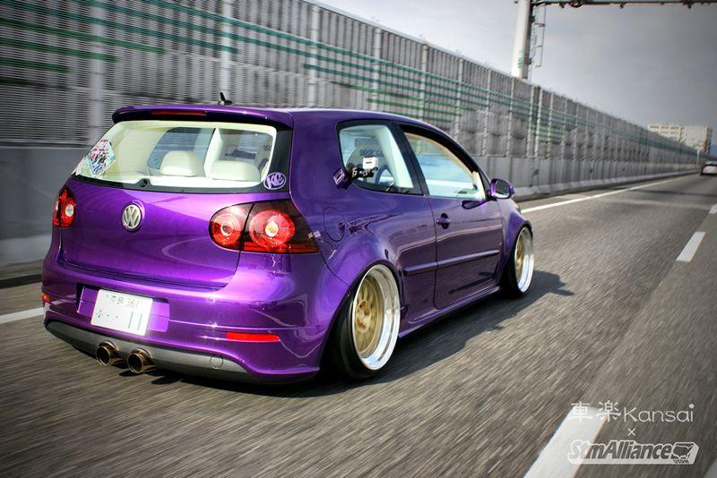 Purple Cow VW Golf