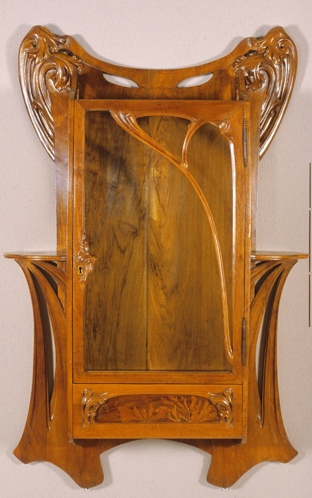 Art Nouveau Furniture In 1890 | Wall Cabinet by Attributed ...