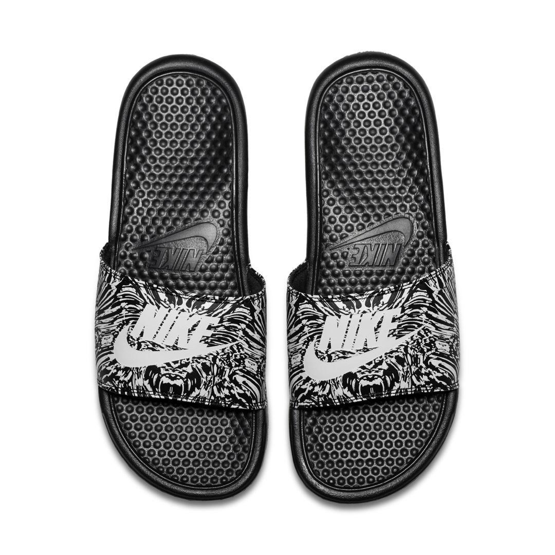 8636ba845add Nike Benassi JDI Printed Men s Slide Size 12 (Black)