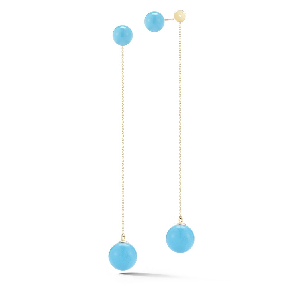 14kt Gold Turquoise Ball Drop Earring These Elegant Beauties Are The Perfect