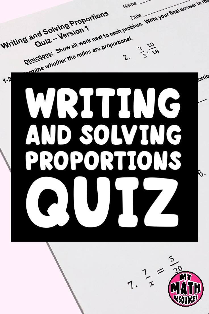 Writing And Solving Proportions Assessment Video In 2020 Math For Middle School Solving Proportions Teacher Resources