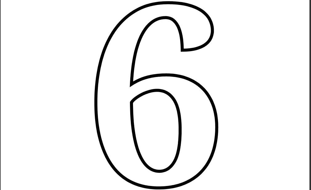 Printable Number 6 Coloring Page Coloring Pages Printable Numbers Printable Banner Letters