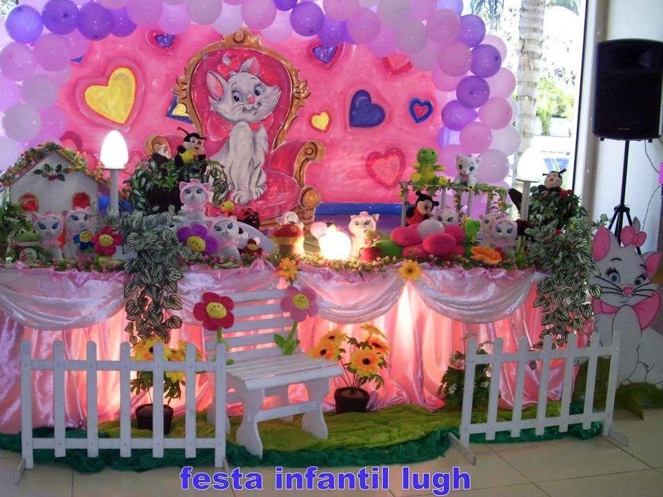 Tema Da Gata Marie Para Decoracao De Festa Infantil Com Imagens