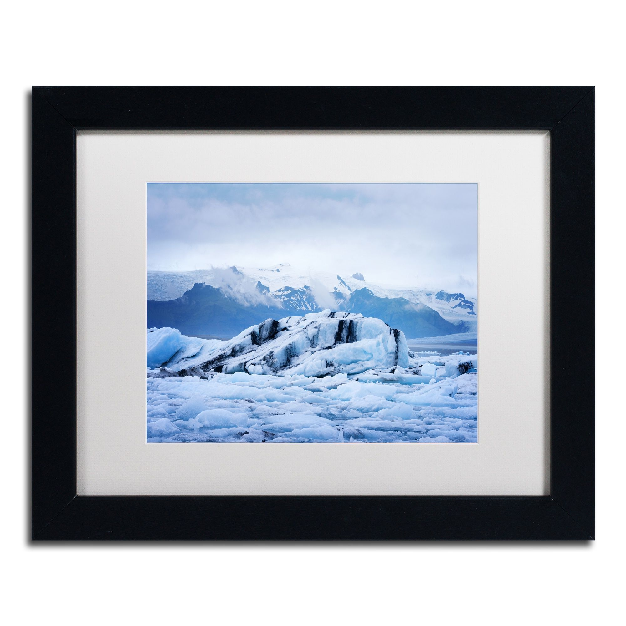 Philippe Sainte-Laudy 'Ice Planet' Matted Framed Art