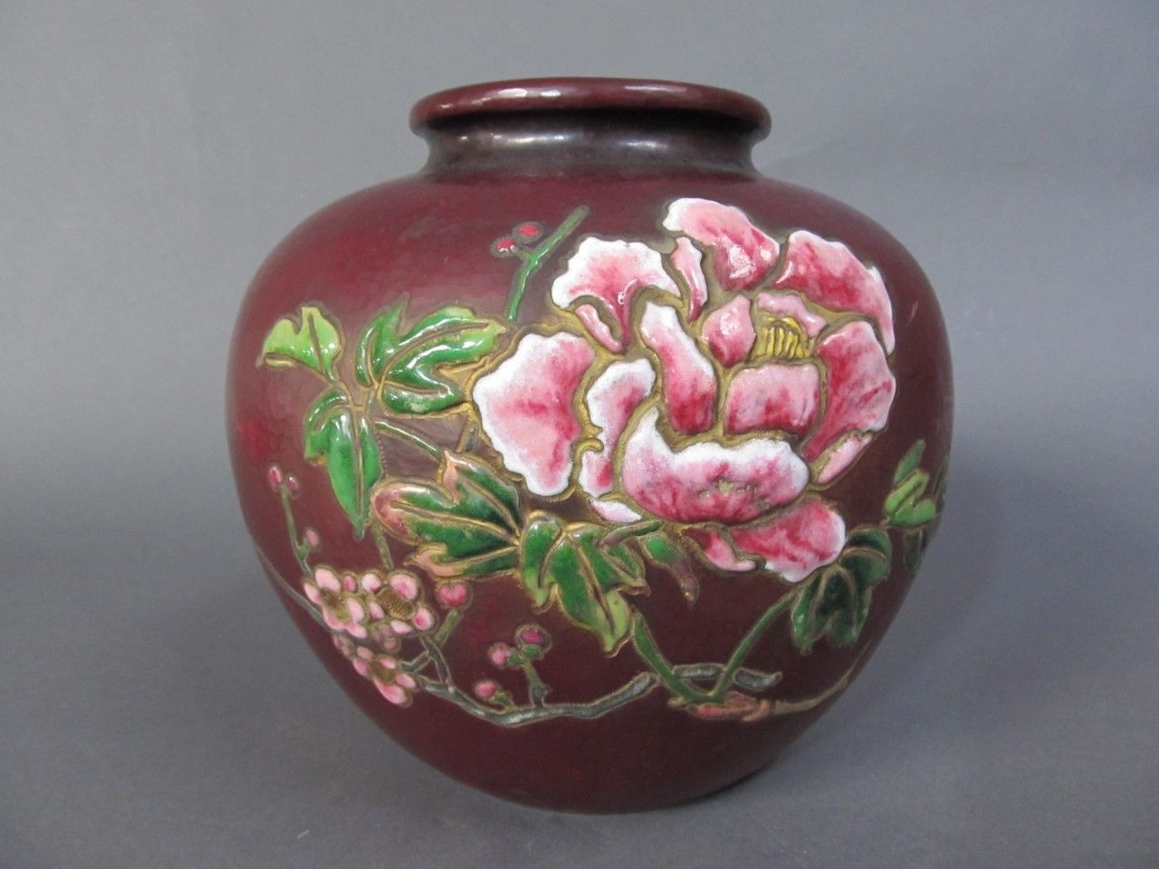 Antique Japanese brass flower vase priced at only $800 for Spring. This unique piece was made during the Late Showa period and stands 8 inches tall.