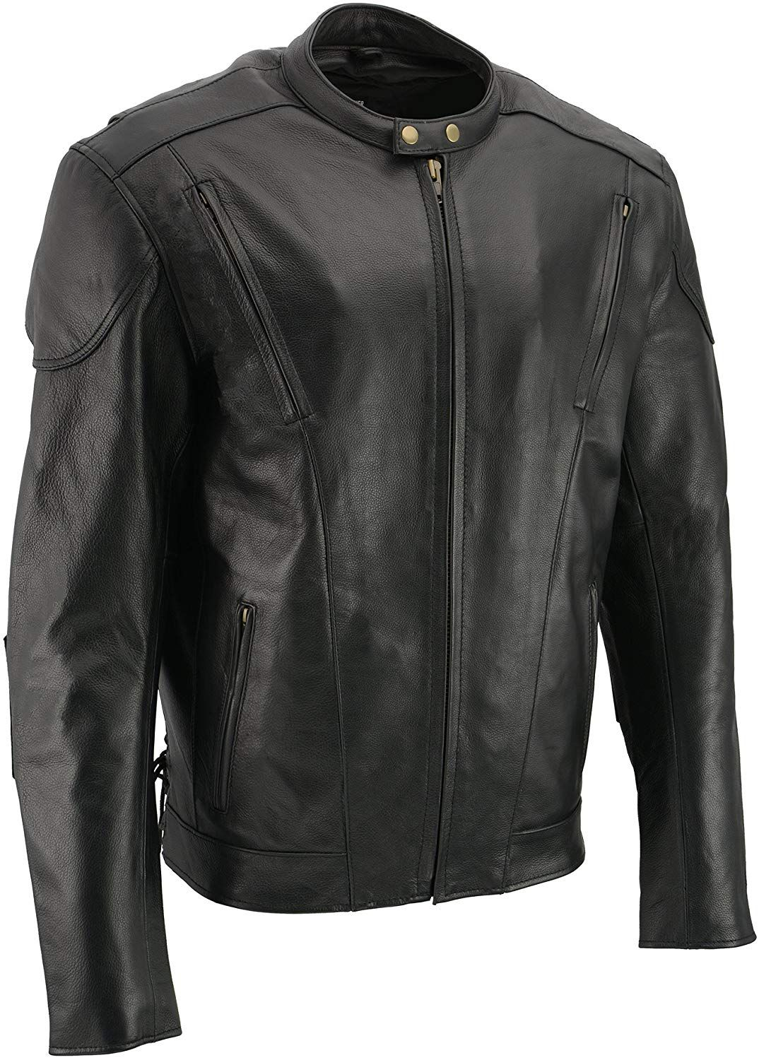 Black Tall Men S Cowhide Leather Motorcycle Jacket Leather Motorcycle Jacket Motorcycle Jacket Biker Outfit [ jpg ]