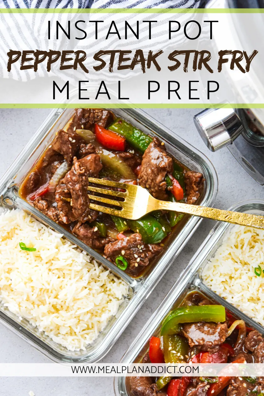 Instant Pot Pepper Steak Stir Fry - Meal Plan Addict