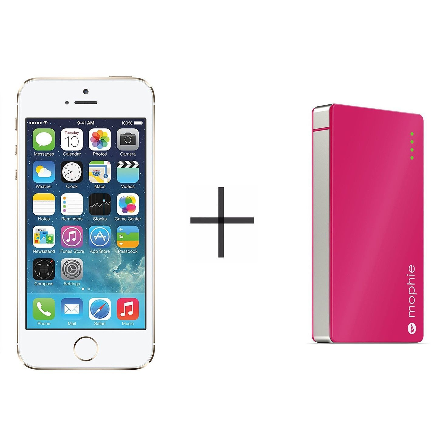 Apple iPhone 5s 32GB GSM Phone Gold Mophie 2775 Powerstation Mini