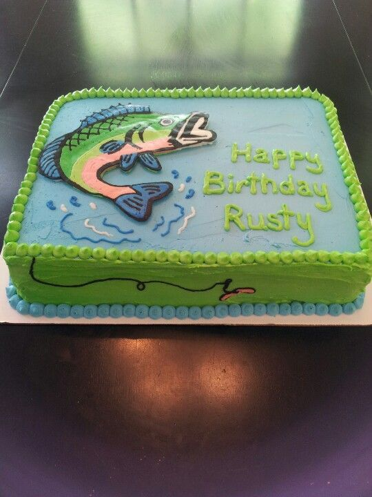 Fishing Sheet Cake Favorite Recipes My Boy Pinterest Favorite